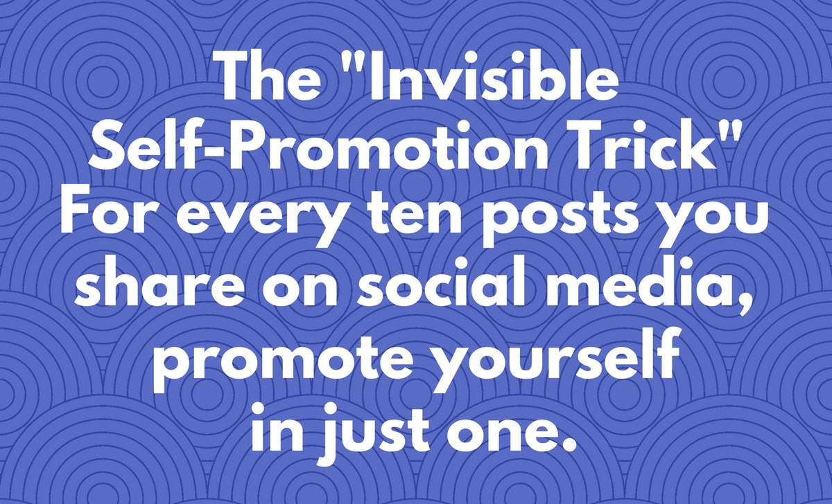 social media for actors invisible self promotion trick