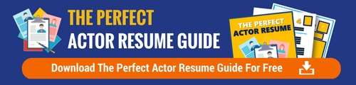 actor resume headshot tip